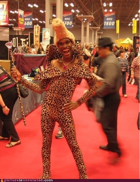 convention costume leopard print wtf