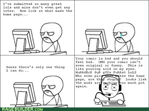 comments,criticism,in b4 bobby joe,Rage Comics