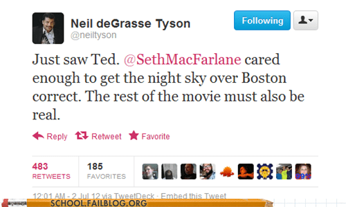 movies Neil deGrasse Tyson night sky seth mcfarlane TED - 6390542848