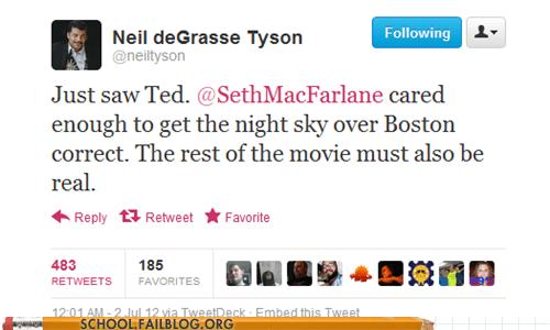 movies Neil deGrasse Tyson night sky seth mcfarlane TED - 6390542848