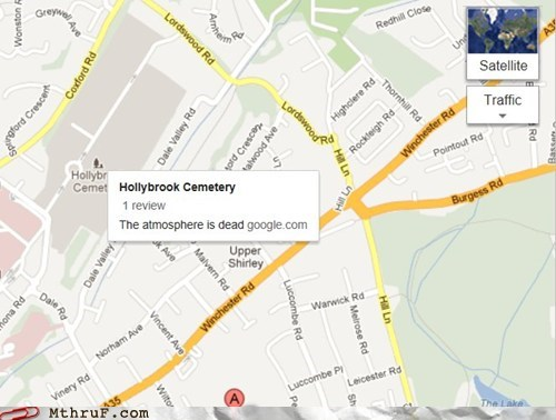 cemetery,funeral,funny reviews,google maps