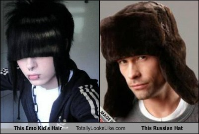 emo,funny,hair,mad bomber,russian hat,style,TLL