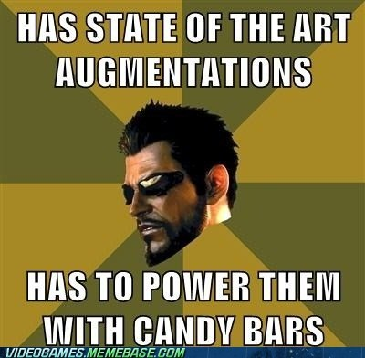 adam jensen,augmentations,candy bars,dues ex,meme
