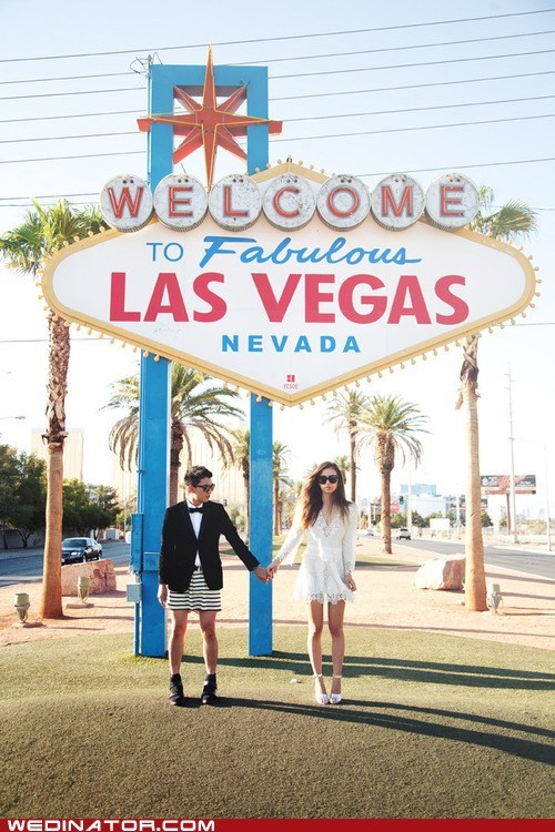 bride funny wedding photos groom kilts las vegas skirts