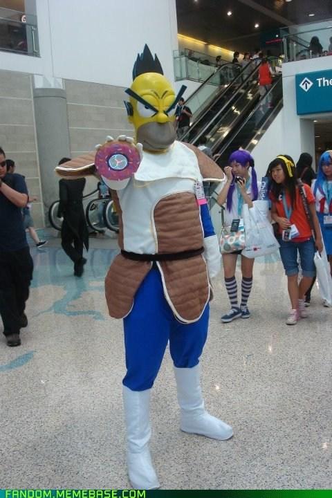 cartoons cosplay crossover Dragon Ball Z homer vegeta - 6390822912