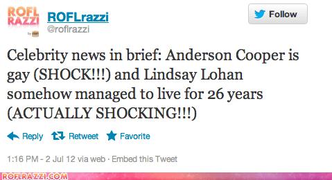 Anderson Cooper lindsay lohan roflrazzi tweet twitter - 6390829824
