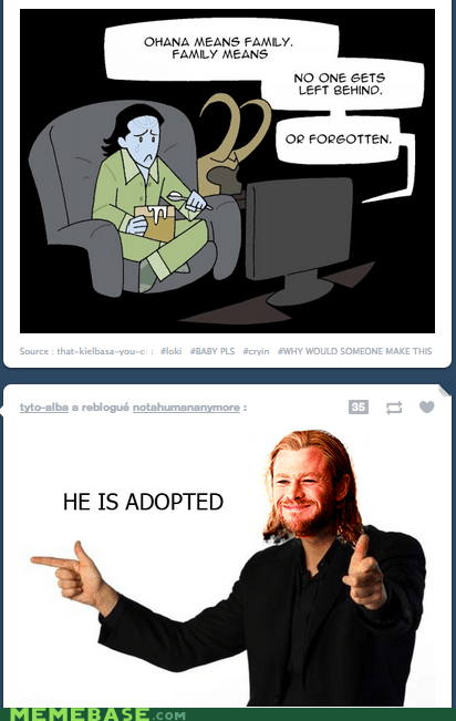 adoption,lilo and stitch,loki,Memes