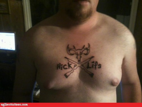 chest tattoos deer head hick life hunting rifles - 6391088640
