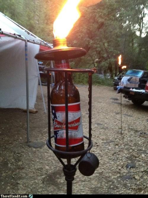 beer,beer bottle,bud,budweiser,budweiser tiki torch,tiki torch