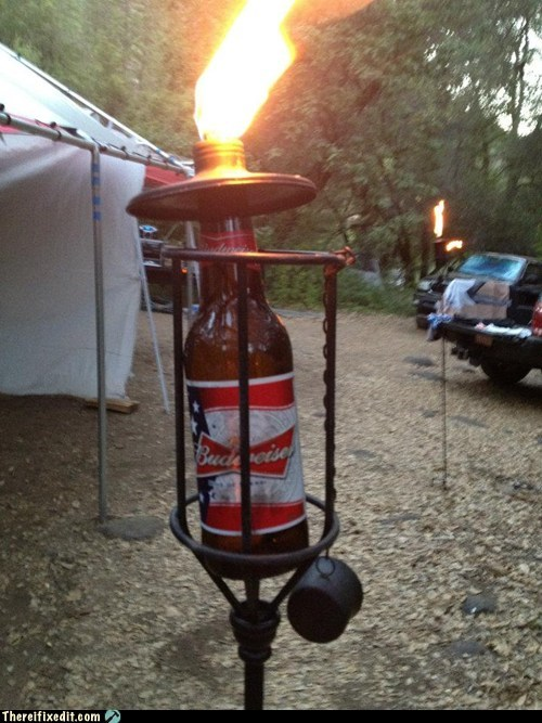 beer beer bottle bud budweiser budweiser tiki torch tiki torch - 6391106560
