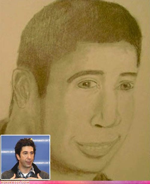 actor celeb david schwimmer Fan Art funny