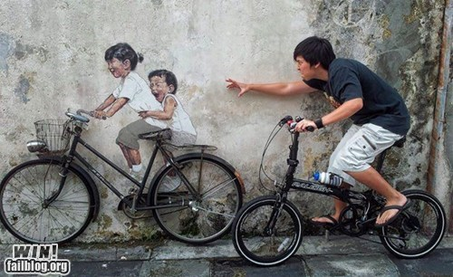 bicycle,graffiti,hacked irl