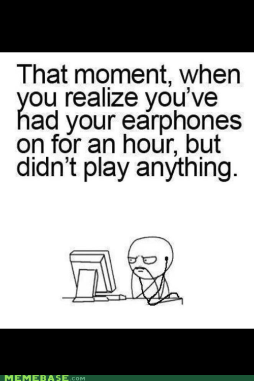 ear headphones Rage Comics sound of silence - 6391194624