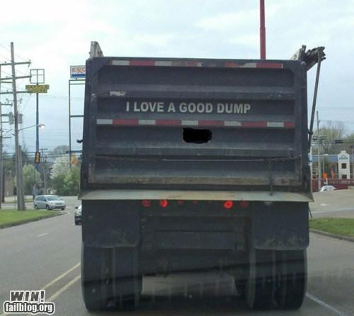 driving,dump truck,garbage,literal,pun