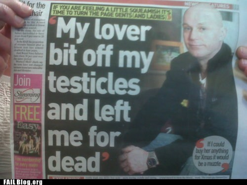 lover Probably bad News testicles