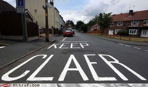 keep claer,no praking