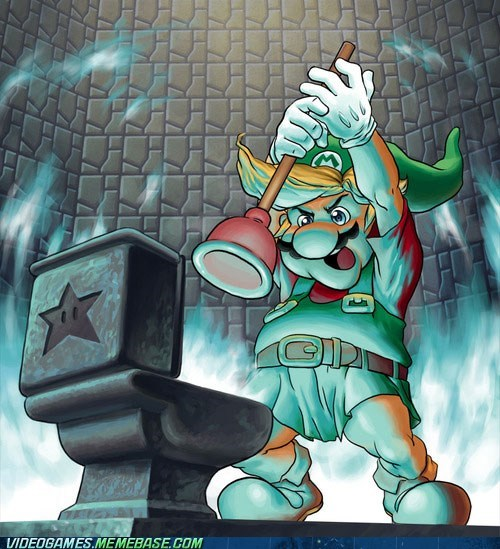 art crossover mario the legend of peach zelda - 6391412736