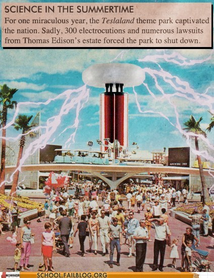 science in the summer summertime tesla coils Teslaland theme parks