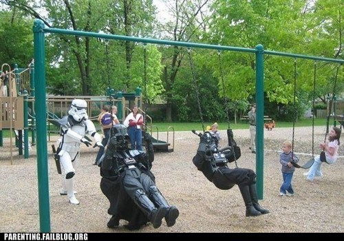 darth vader,playground,star wars,stormtrooper,swings