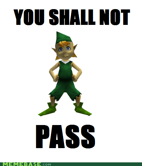 great deku tree meme ocarina of time you shall not pass