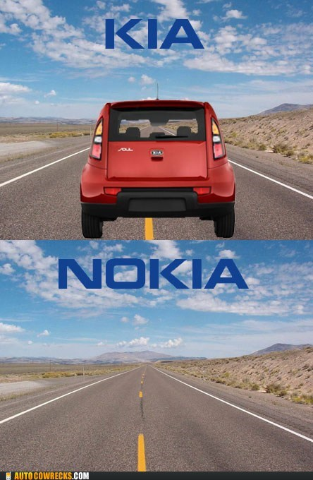 clever,I see what you did there,kia,nokia