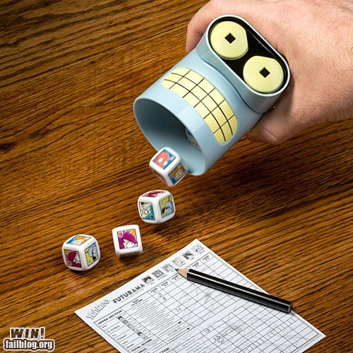 bender board game futurama nerdgasm yahtzee