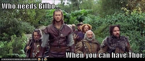 Bilbo Baggins,chris hemsworth,dwarves,snow white and the huntsm,snow white and the huntsman,who needs it