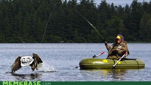 eagle fishing rafting troll troll face - 6391710720