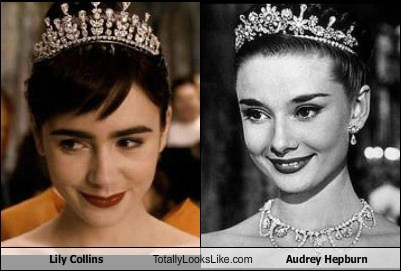 actor Audrey Hepburn celeb funny Lily Collins TLL - 6391748352