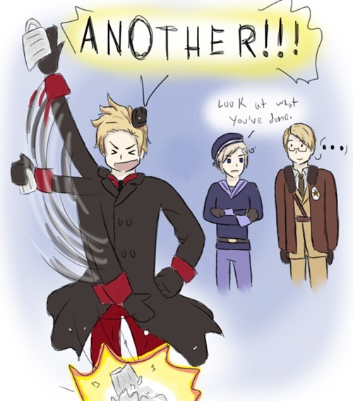 anime,crossover,Fan Art,hetalia,movies,Thor
