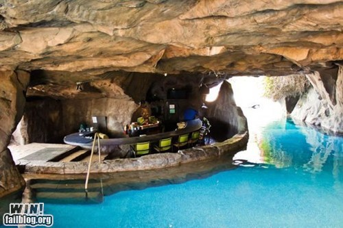 awesome man cave pool wincation