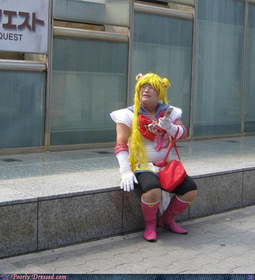 cosplay,cross dressing,fat,sailor moon