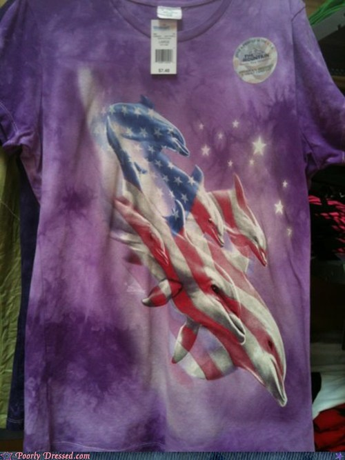 america dolphin fourth of july gaudy independence day shirt - 6391808256