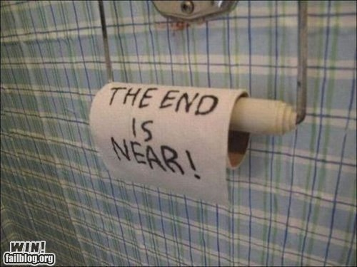 clever The End toilet paper
