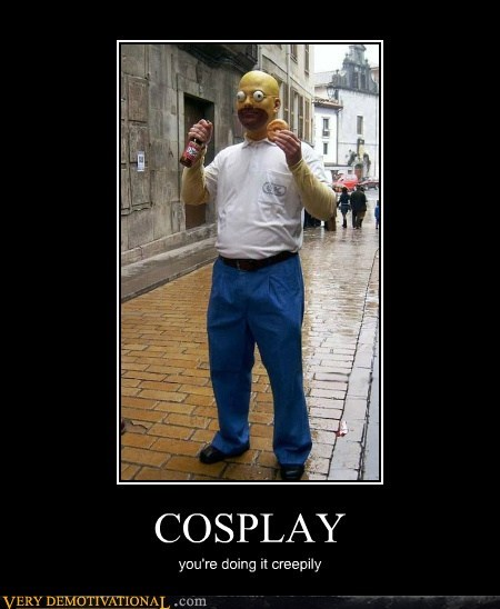 cosplay,creepy,hilarious,homer simpson