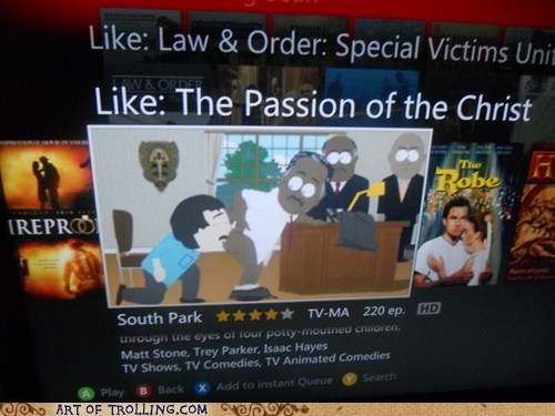 netflix shoppers beware South Park the passion of the christ