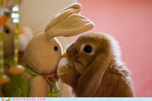 friends happy bunday rabbit secret stuffed animal - 6392045056
