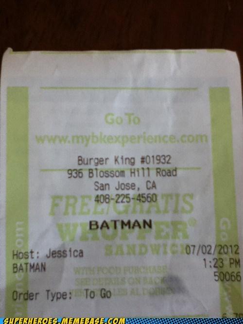 batman burger king hungry Superhero IRL - 6392110080