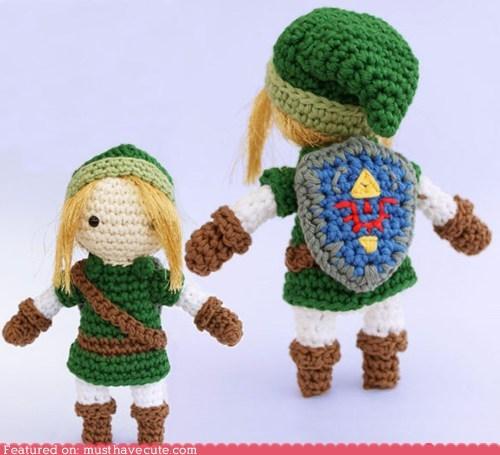 Amigurumi,Crocheted,figurine,link,zelda