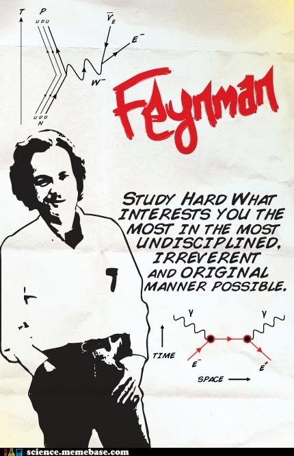 irreverent,Professors,quote,richard feynman,study