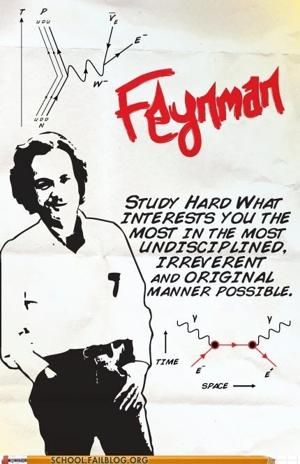 richard feynman study hard Words Of Wisdom - 6392248832