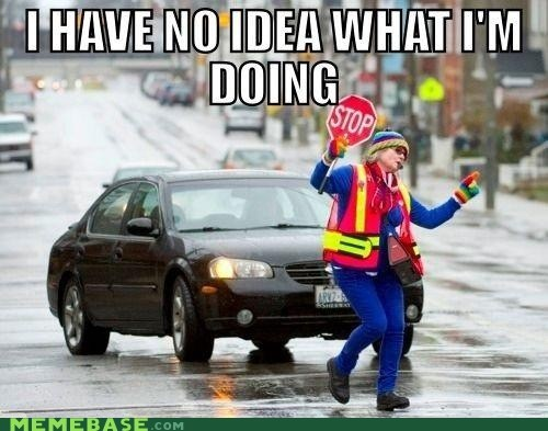 car,Memes,no-idea-what-im-doing,safety dance,traffic