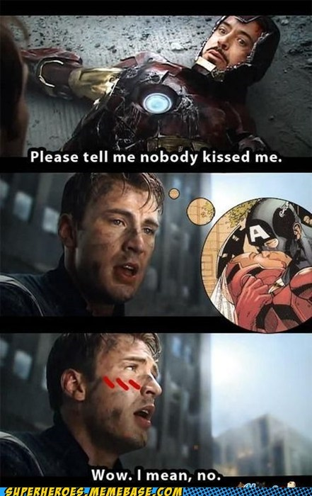 avengers captain america kissing Super-Lols - 6392898816