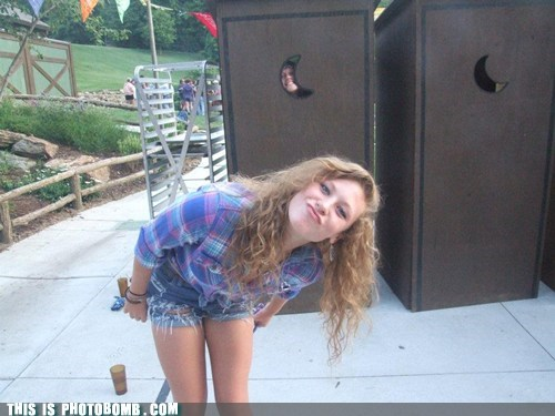 creeper creepy sneakers crescent outhouse photobomb - 6392968192
