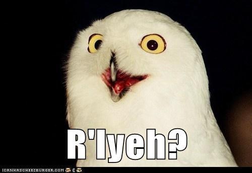 cthulhu,h-p-lovecraft,o rly,Owl,rlyeh,ya rly