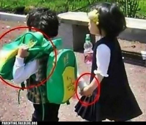 backpacks gentleman holding hands - 6393389056