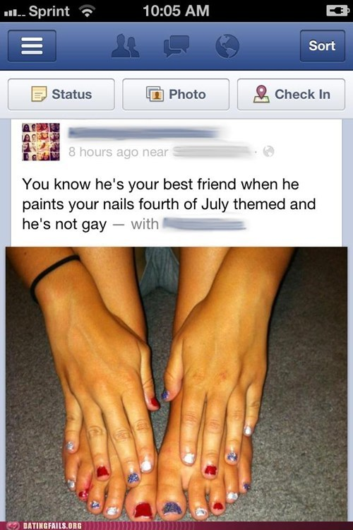 america fourth of july friendzoned painted nails - 6393410816