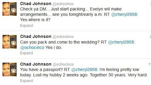 Fan Favorite ochocinco ftw ochocinco wedding tweet - 6393618432