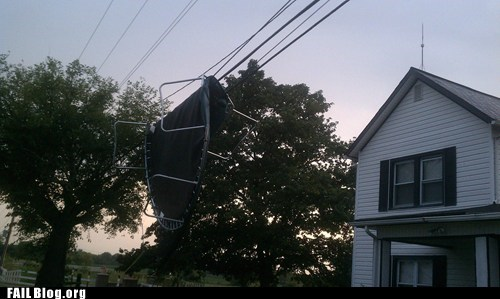 house,power lines,trampoline