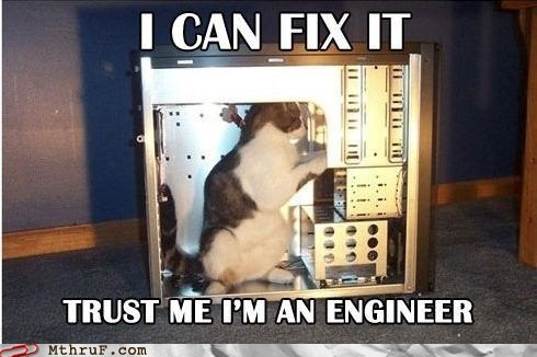 cat engineer kitteh trust-me-im-an-engineer - 6393680384